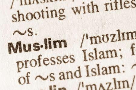 definicion: Definici�n de la palabra en el diccionario de musulmanes