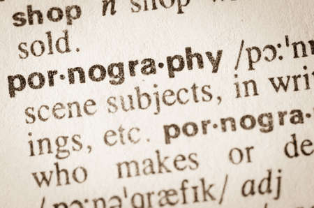 Definition of word pornography in dictionary Banco de Imagens
