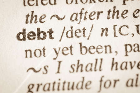 indebtedness: Definition of word debt  in dictionary