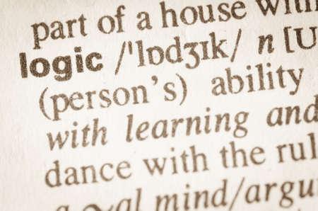 logica: Definición de la lógica de la palabra en el diccionario