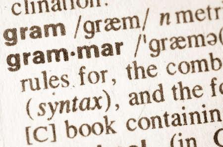 definicion: Definici�n de la palabra en el diccionario de gram�tica