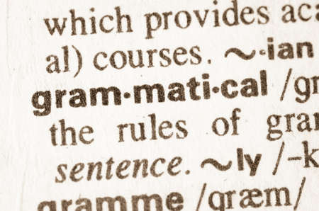 grammatical: Definition of word grammatical  in dictionary