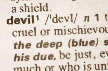 definicion: Definición del diablo palabra en el diccionario