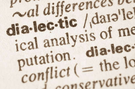 dialectic: Definition of word dialectic in dictionary Stock Photo