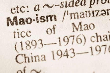 definición: Definición de la palabra en el diccionario de maoísmo
