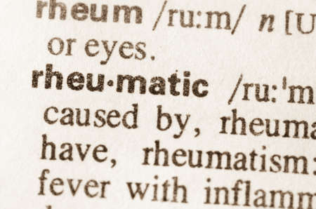 lexical: Definition of word rheumatic in dictionary