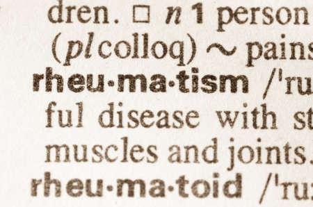 definicion: Definici�n de la palabra en el diccionario de reumatismo