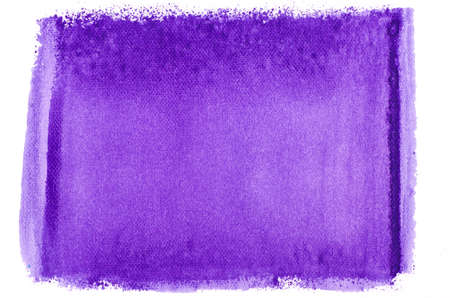 watercolor paper: violet watercolor painted texture on white paper background