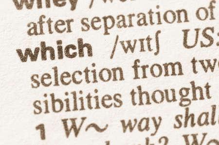 definicion: Definición de la palabra que el diccionario Foto de archivo