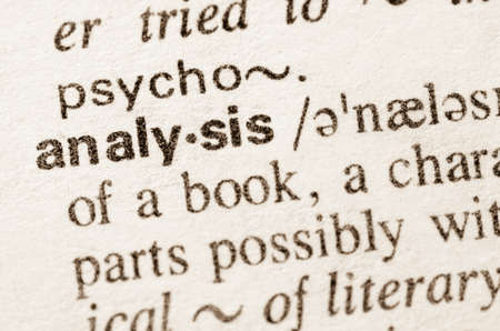 Definition of word analysis in dictionary Archivio Fotografico