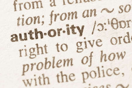 Definition of word authority in dictionary