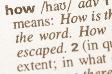 lexical: Definition of how word in dictionary
