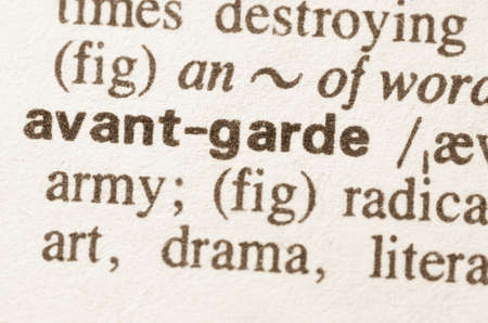 avant: Definition of word avant garde  in dictionary Stock Photo
