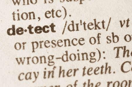 definicion: Definición de la palabra en el diccionario de detectar