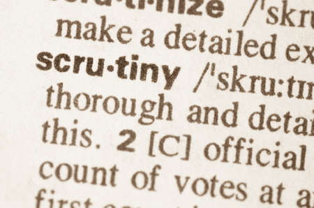 scrutiny: Definition of word scrutiny in dictionary