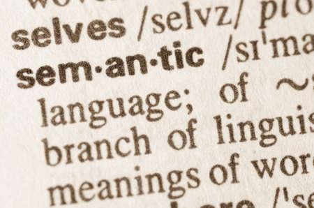 definición: Definición de la palabra en el diccionario semántico Foto de archivo
