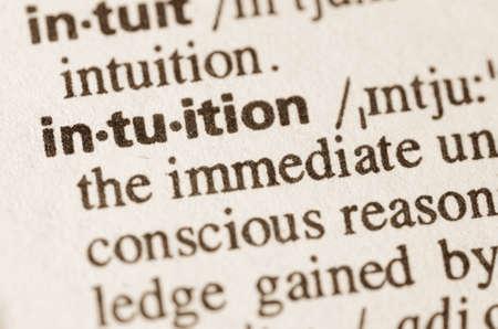 definicion: Definici�n de la palabra en el diccionario de la intuici�n Foto de archivo
