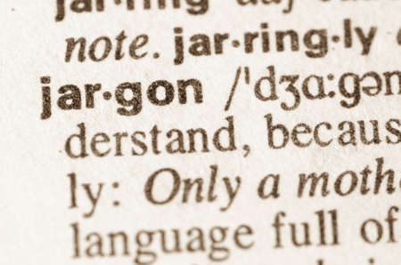 Definition of word jargon in dictionary Banco de Imagens