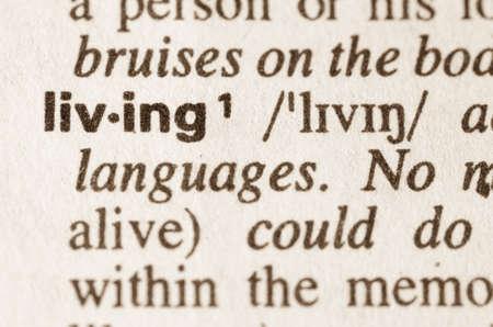 definicion: Definici�n de la palabra en el diccionario de vivir