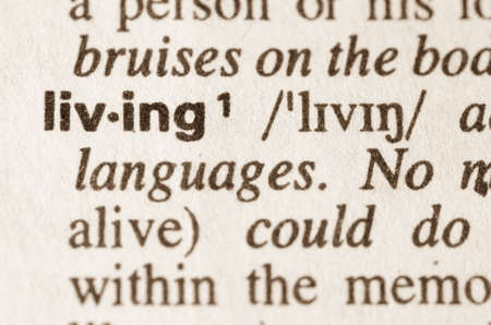 definition: Definition of word living  in dictionary