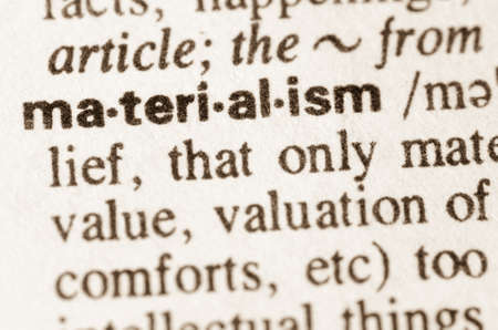 Definition of word materialism in dictionary
