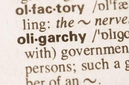 definicion: Definición de la palabra en el diccionario de la oligarquía