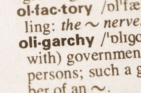 oligarchy: Definition of word oligarchy in dictionary