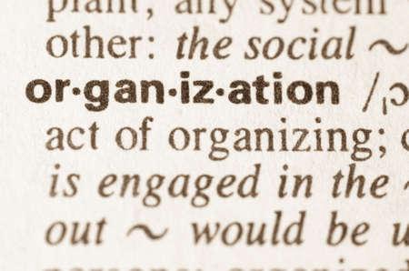 definicion: Definici�n de la organizaci�n de la palabra en el diccionario