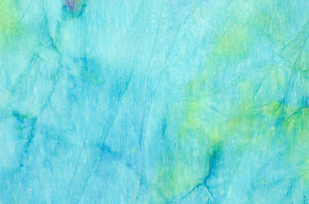 blue watercolor painting on crepe paper background texture