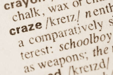 rampage: Definition of word craze in dictionary
