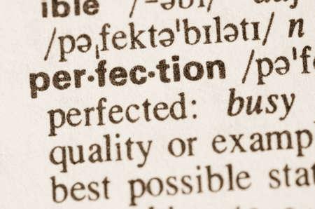 definicion: Definición de la perfección palabra en el diccionario