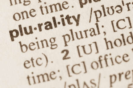 lexical: Definition of word plurality in dictionary