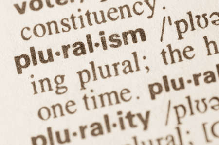 lexical: Definition of word pruralism in dictionary Stock Photo