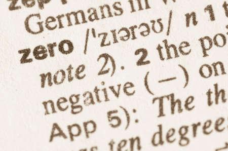 definicion: Definición de la palabra en el diccionario de cero