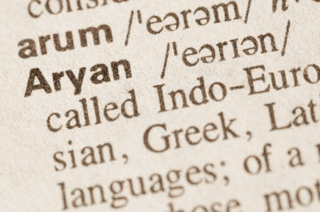 Definition of word aryan in dictionary