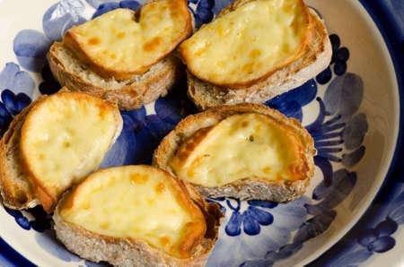 oscypek: crostini with traditional cheese oscypek Stock Photo