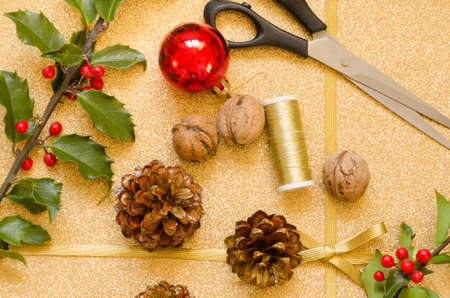objects: objects and plants  for Christmas decorations