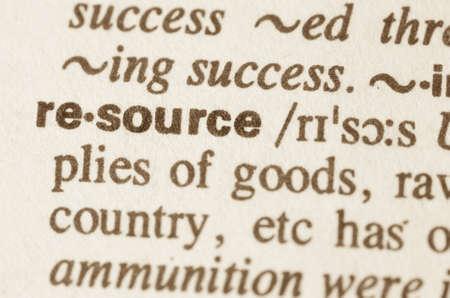 d�livrance: D�finition des ressources de mot dans le dictionnaire Banque d'images