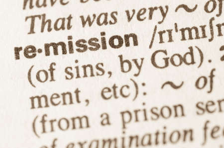 remission: Definition of word remission in dictionary