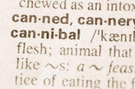 definicion: Definici�n de la palabra can�bal en el diccionario