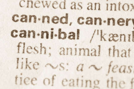 cannibal: Definition of word cannibal  in dictionary