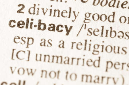 continence: Definition of word celibacy in dictionary Stock Photo