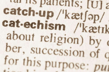definition: Definition of word cathesism  in dictionary Stock Photo