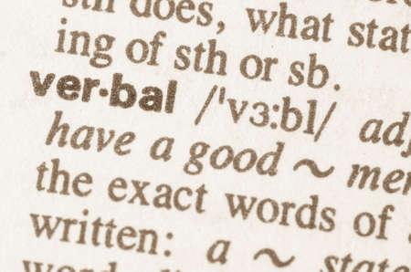 definicion: Definici�n de la palabra en el diccionario verbal Foto de archivo