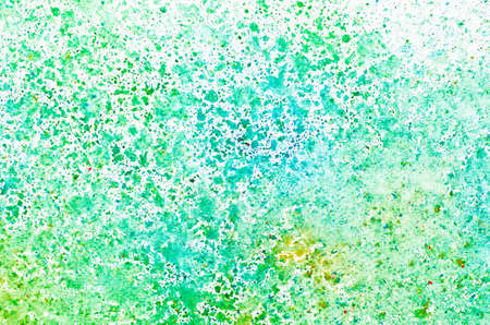 green ink: watercolor painting on paper background texture Stock Photo