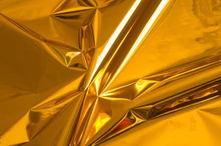 golden shiny metallic foil background