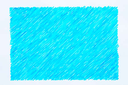 blue marker doodles on white paper background Stock Photo