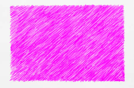 scrawl: magenta marker doodles on white paper background