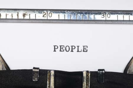 domestics: Word people typed on an old typewriter