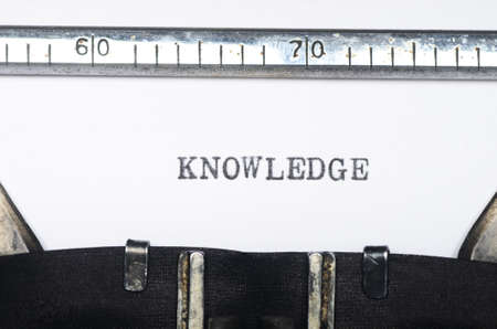 typed: Word knowledge typed on an old typewriter